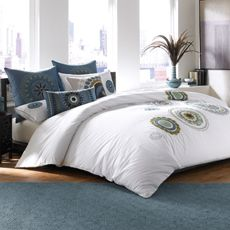 Kalyan Duvet Cover, 100% Cotton - Bed Bath & Beyond (Just a little too white for China) But love the design) $149.99