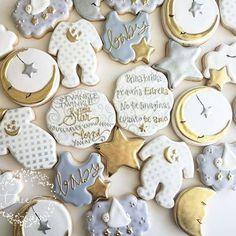 Twinkle, twinkle little star baby shower cookies