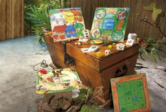 Unpack a HABA Game so parents can see the quality playing pieces and peruse the instructions. Some of these games have beautifully designed playing boards and these attract lots of attention instore
