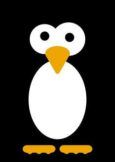 Minimal Penguin Art Print by Daniel Ebbrell   Society6