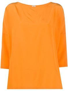 Orange sleeves silk top from M Missoni featuring a round neck, dropped shoulders, three-quarter length sleeves and a straight hem. Retail Store Design, Retail Stores, Apparel Design, Missoni, Retail Displays, Shop Displays, Merchandising Displays, Window Displays, Silk Top