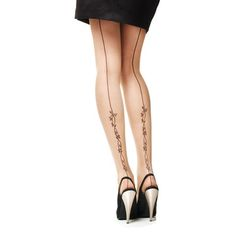 Tattoo and back seam tights, that's hot! By Philippe Matignon.