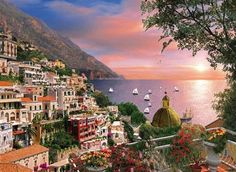 Romantic Italy, Positano 1000 Piece Puzzle