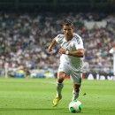Cristiano Ronaldo running for the ball.