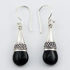 $19.95aus With FREE WORLD SHIPPING ....BUY NOW FROM LINK HERE............ http://www.ebay.com.au/itm/Handmade-earrings-black-agate-gemstone-bali-style-925-silver-hook-drop-37mm-NEW-/171844447752?ssPageName=ADME:L:EOISSA:AU:1123