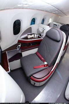 Qatar Airways 787 Business Class.
