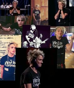 Dalton and his Vinyl Is Forever shirt