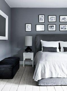 Charmant Schlafzimmer Wandgestaltung Dunkelgrau Hellgraue Decke