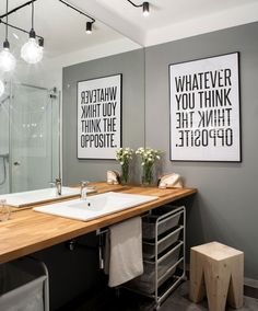 I really like this poster idea beside a mirror. Defiantly doing this in the spare room