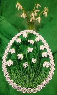 Dekorácie - Snežienkové veľkonočné vajíčko - 7912615_
