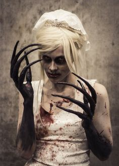creepy Halloween costumes ideas horror halloween make up ideas