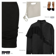 """Untitled #3064"" by amberelb ❤ liked on Polyvore featuring Rick Owens, Christopher Kane, Aquazzura, CO and CÉLINE"