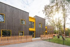 School Building Design, School Design, School Architecture, Architecture Design, Daycare Design, Building Contractors, Architectural Photographers, Social Housing, Environmental Design