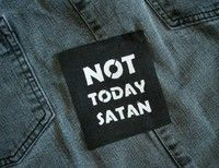 Not Today Satan patch Bianca Del Rio Rupaul by TheOysterKnife Patches Punk, Pin And Patches, Riot Grrrl, Rupaul, Textiles, Vaporwave Clothing, Genderqueer, Drag, Black Screen