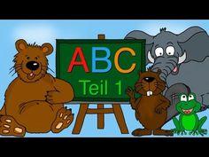 ABC Lied - Buchstaben lernen von A-F - Alphabet - Kinderlieder deutsch - YouTube