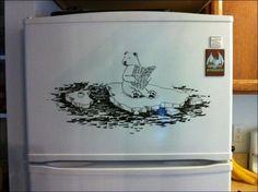 Very Creative Refrigerator Art