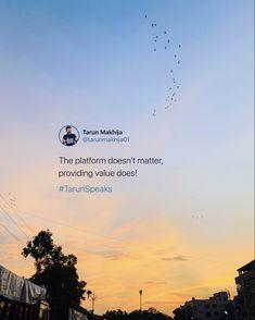 Value is what your audience looks for. #TarunSpeaks #socialmedia #value #providevalue Positive Vibes Only, Digital Marketing, Positivity, Social Media, Life, Social Networks, Social Media Tips, Optimism