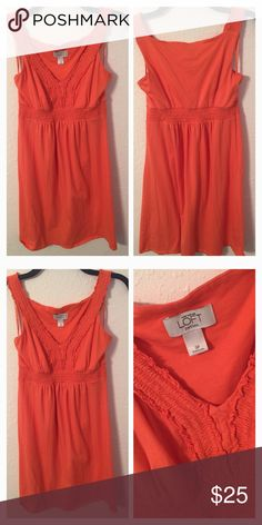 Ann Taylor Orange Dress Brand:  Ann Taylor Loft   Color: Orange   Size: 2  Condition: EUC  ❌Trades❌  ⚡️I ship lightening fast⚡️  🎉Discounts with bundles🎉 Dresses Mini