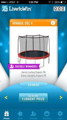 Congrats to another recent #DoubleWinner pair!  Dana referred Aaron, so when Aaron won, Dana won too! Congrats both!