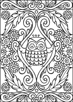 Owl Coloring Page From Thaneeya McArdles Groovy Owls