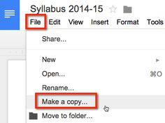 When sharing Google Docs with students one trick is to have the students make a copy. Sharing Settings In the upper right hand corner of a Google Doc is the blue share button. Click on this to chan...