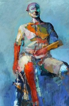 abstract figure paintings | Abstract Seated Figure 2012 Painting by Dan Boylan - Abstract Seated ...