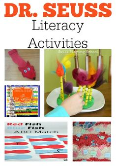 Loads of Dr. Seuss literacy activities. Includes ideas for alphabet recognition, fine motor skills, writing ideas, sight word activities and more!