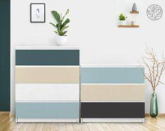 Ikea malm   Etsy Coral Furniture, Ikea Furniture, Nursery Stickers, Mirror Wall Stickers, Wall Mirror, Ikea Kura Bed, Malm Dresser, Washable Paint, Textured Walls