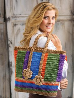 Browse 40 projects in Stress-Free Seamless Crochet: www. Browse 40 projects in Stress-Free Seamless Crochet: www. Crochet Tote, Crochet Handbags, Crochet Purses, Bead Crochet, Crochet Gifts, Crochet Baby, Free Crochet, Easy Crochet Patterns, Crochet Stitches