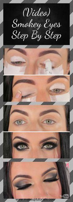 How To Create A Dramatic Smokey Eye | Step by Step Video Tutorials at http://makeuptutorials.com/smokey-eyes-step-by-step/