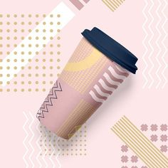 Girlboss Patterns on coffee cup. Design by Youandigraphics