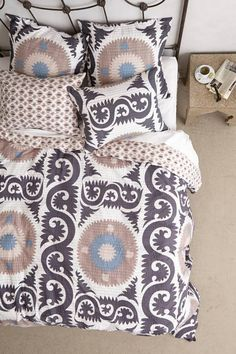 Anthropologie Yalova Duvet - home and bedding (grey bedroom decor)