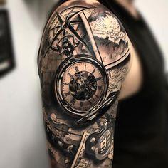 Compass Rose Map Half Sleeve Tattoos - Best Half Sleeve Tattoos For Men: Cool Up. - Compass Rose Map Half Sleeve Tattoos – Best Half Sleeve Tattoos For Men: Cool Upper Arm, Half Sle - Shoulder Sleeve Tattoos, Quarter Sleeve Tattoos, Half Sleeve Tattoos For Guys, Half Sleeve Tattoos Designs, Full Sleeve Tattoos, Tattoo Designs Men, Half Sleeve Tattoos With Compass, Upper Shoulder Tattoos, Best Tattoos For Men