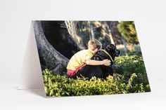 A boy and his dog, by Ryan O'Donoghue, light box photo