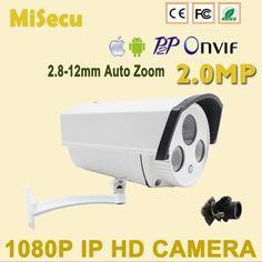 Auto zoomom 2.8-12mm 2.0MP FULL IP kamera Array široký dynamický CMOS HD ONVIF P2P Night Vision Camera CCTV kamery zabezpečenie domácnosti