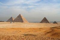 Pyramids of Giza, outside of Cairo