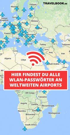 Diese Karte zeigt die WLAN-Passwörter der Airports – TRAVELBOOK