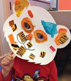 'Tiger who came to Tea' mask, grrrr! Jungle Activities, Eyfs Activities, Nursery Activities, Party Activities, Creative Activities, Toddler Activities, Toddler Crafts, Crafts For Kids, Tiger Mask