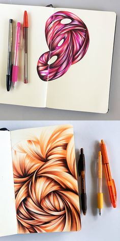 A duo of ballpoint pen sketches by Jennifer Johansson from the fall of Click through to see more! Sketchbook Tour, Sketchbook Inspiration, Pen Sketch, Art Sketches, Ballpoint Pen Art, Design Floral, Ink Pen Drawings, Color Pencil Art, Ink Art