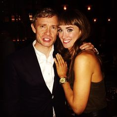 When your boyfriend goes to take your picture with Martin Freeman and Martin Freeman won't stop shouting hilarious insults at your boyfriend but you don't care because Martin Freeman is touching you. #MrsWatson #BoyfriendOfTheYear - via Brynn O'Malley's instagram