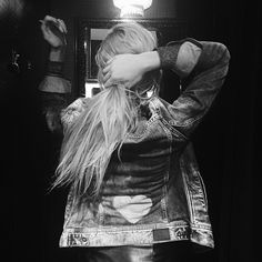 Hella (AmberHella's blog) wearing her new jacket by our #PepeJeansCustomStudio #PepeLoveBloggers