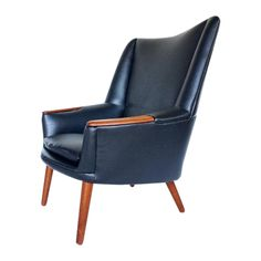 Kurt Ostervig for Møbler Black Lounge Chair on Chairish.com