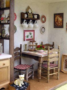 Miniature roombox kitchen corner By Martina Fritscherová