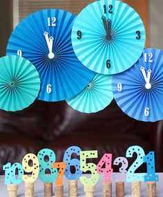New Years Eve Party Decorations -  Accordion Clocks - Click Pic for 17 New Years Eve Party Food Ideas