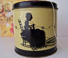 Vintage Tin Yarn holder by cynthiasattic on Etsy, $22.00