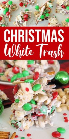 Easy Christmas Snack Mix that is PERFECT for Christmas Parties or as a Food Gift Idea for Friends and Co-workers! So easy to make and a Holiday Favorite! snacks Christmas White Trash Recipe - Passion For Savings Christmas Snack Mix, Christmas Treats, Christmas Parties, Christmas Deserts, White Christmas, Christmas Chocolate, Christmas Holiday, Christmas Cookies, Macaroons Christmas