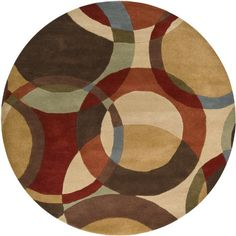 Surya Forum Rust Round Indoor Handcrafted Mid-Century Modern Area Rug (Actual: dia) at Lowe's. The simplistic yet compelling rugs from the Forum Collection effortlessly serve as the exemplar representation of modern decor. With their hand tufted Round Area Rugs, Modern Area Rugs, Contemporary Area Rugs, Wool Area Rugs, Beige Area Rugs, Wool Rug, Circle Rug, Thing 1, Hand Tufted Rugs