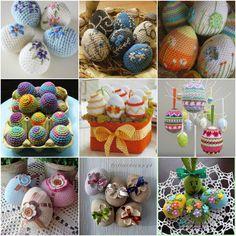 Kötés, horgolás iránt érdeklődő olvasóimnak szeretnék ma kedveskedni ezzel a bejegyzéssel. Annyira bájosak ezek a horgolt tojások, engem teljesen elvarázsoltak, nektek hogy tetszik? Befunky, Easter Eggs, Christmas Bulbs, Crochet Patterns, Cake Pops, Holiday Decor, Blog, Crafts, Diy