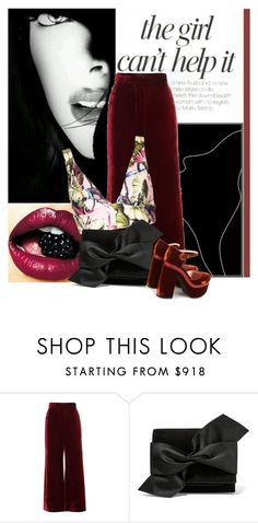 """""""The girl can't help it"""" by no-where-girl ❤ liked on Polyvore featuring Jennifer Lopez, E L L E R Y, Topshop, Victoria Beckham and Rochas"""