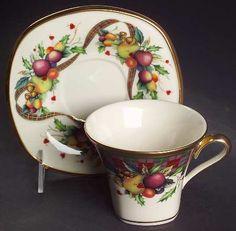 Amazon.com: Lenox China Holiday Tartan Square Cup & Saucer Set, Fine China Dinnerware: Home & Kitchen